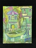 Original Oil On Canvas Signed 'Lentulov'