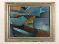 Original Oil Painting on Board Signed 'Max Weber' --