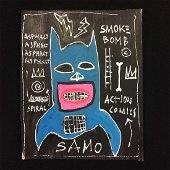 Original Gouache on Paper Signed 'SAMO' -- Jean-Michel
