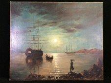 Original Oil on Canvas Signed 'Aivazovsky' in Cyrillic