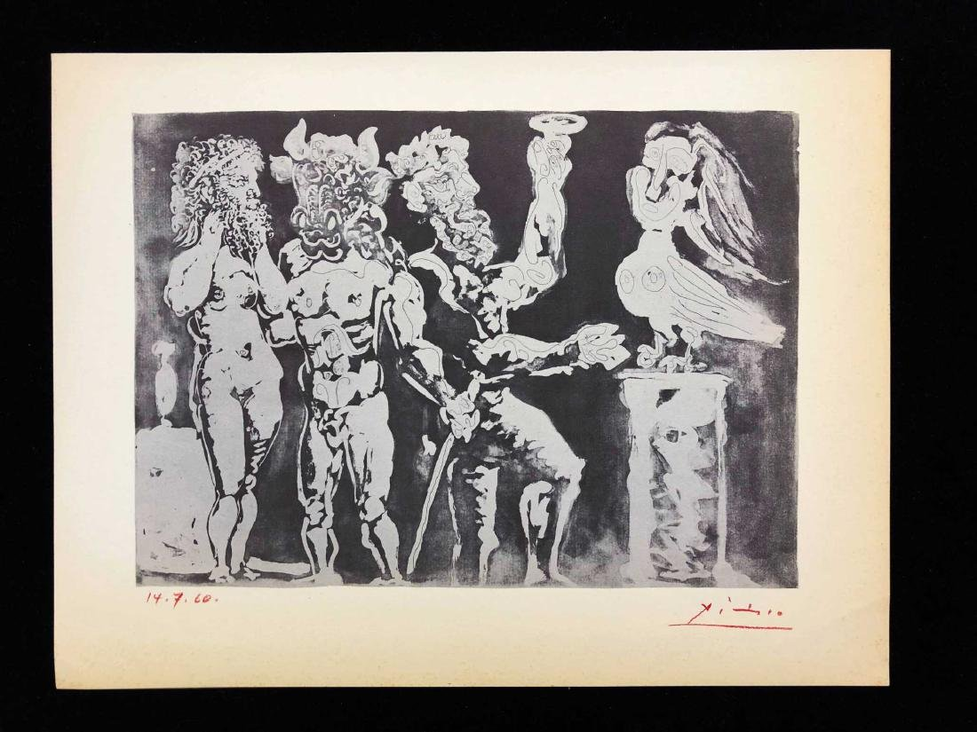 """""""SUITE VOLLARD"""" Lithograph Pencil Signed """"Picasso"""""""