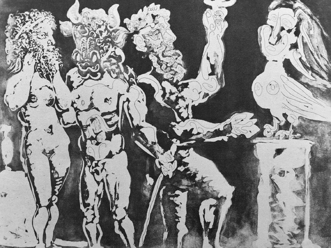 """""""SUITE VOLLARD"""" Lithograph Pencil Signed """"Picasso"""" - 3"""