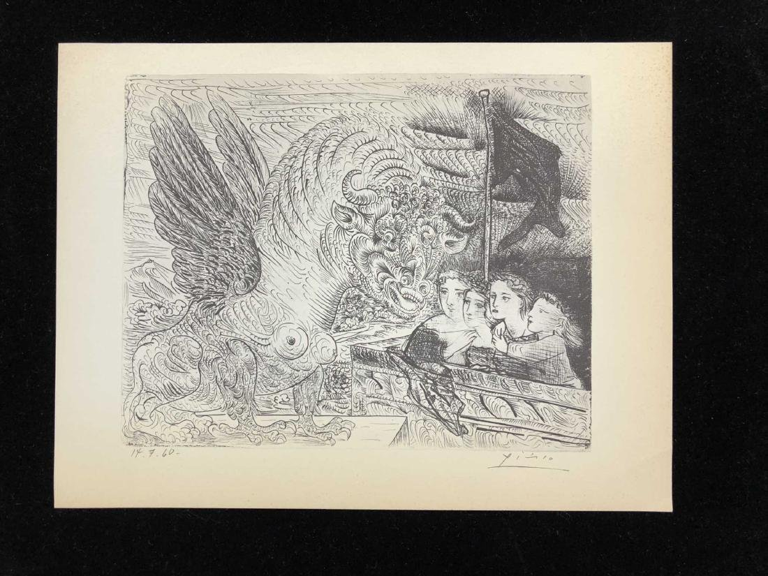 """SUITE VOLLARD"" Lithograph Pencil Signed ""Picasso"""