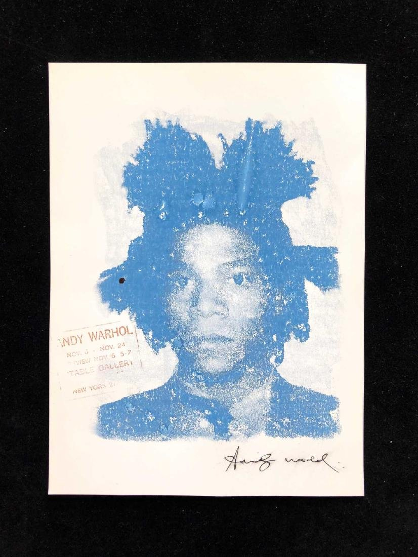 Basquiat Silkscreen on Cardstock signed 'Andy Warhol'