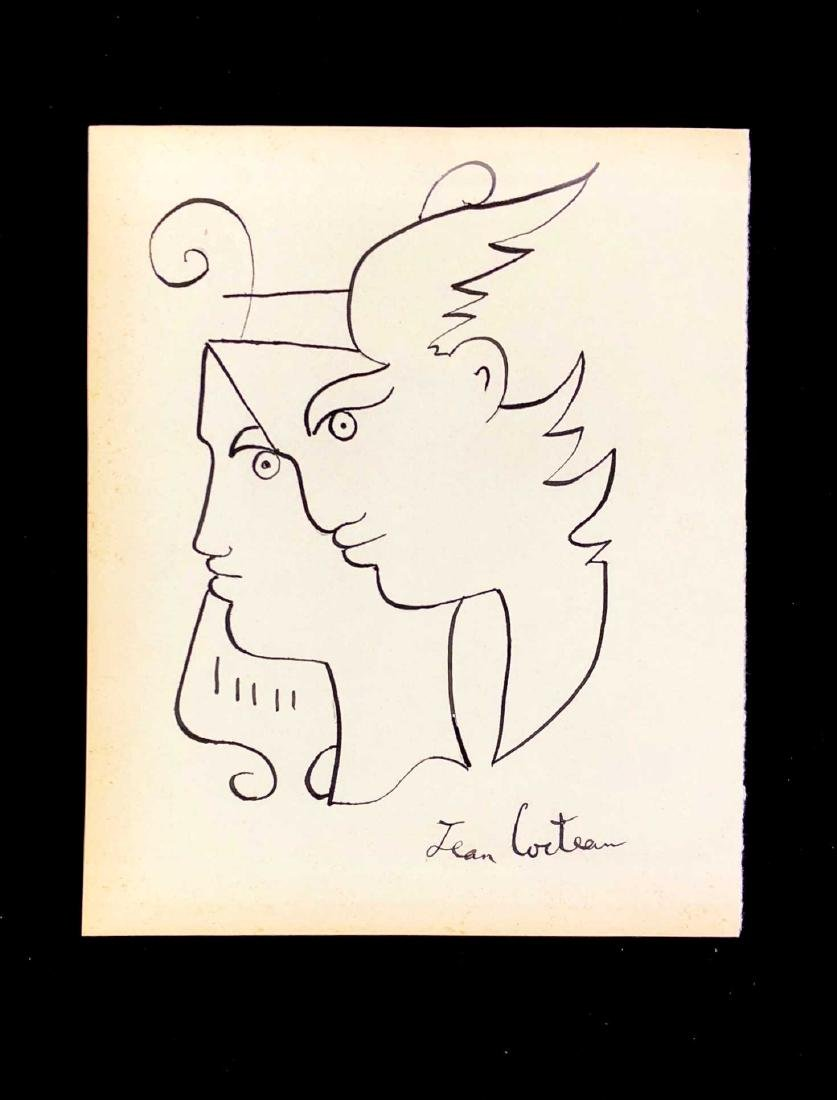 HAND DRAWN Ink on Paper signed 'Jean Cocteau'  Orpheus