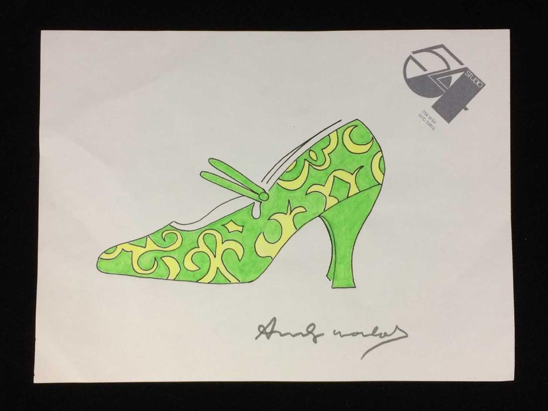 HAND DRAWN Mixed Media on Paper signed ''Andy Warhol''