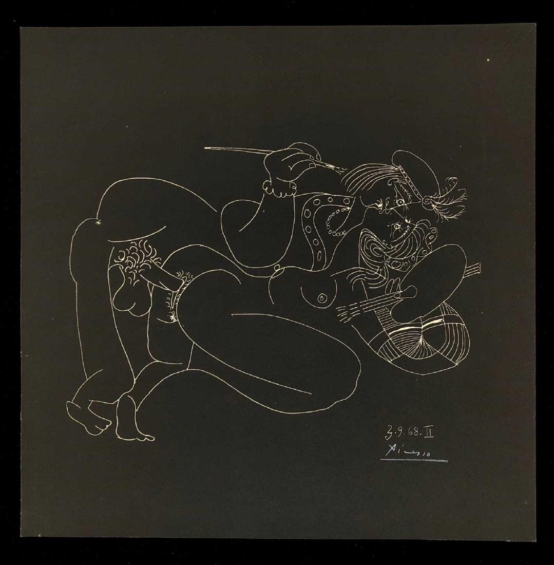 HAND SIGNED 'Picasso' Lithograph ''Orgy' Avant Garde 8