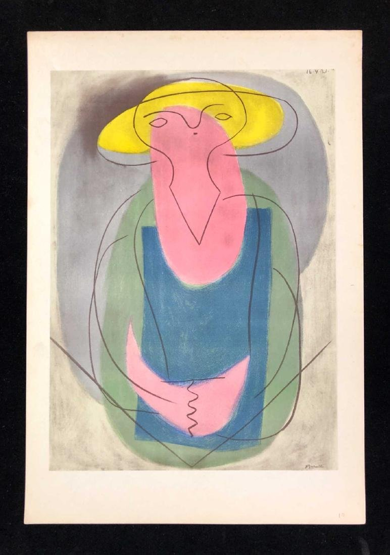 HAND COLORED Pochoir Lithograph Signed ''Picasso'' 1946
