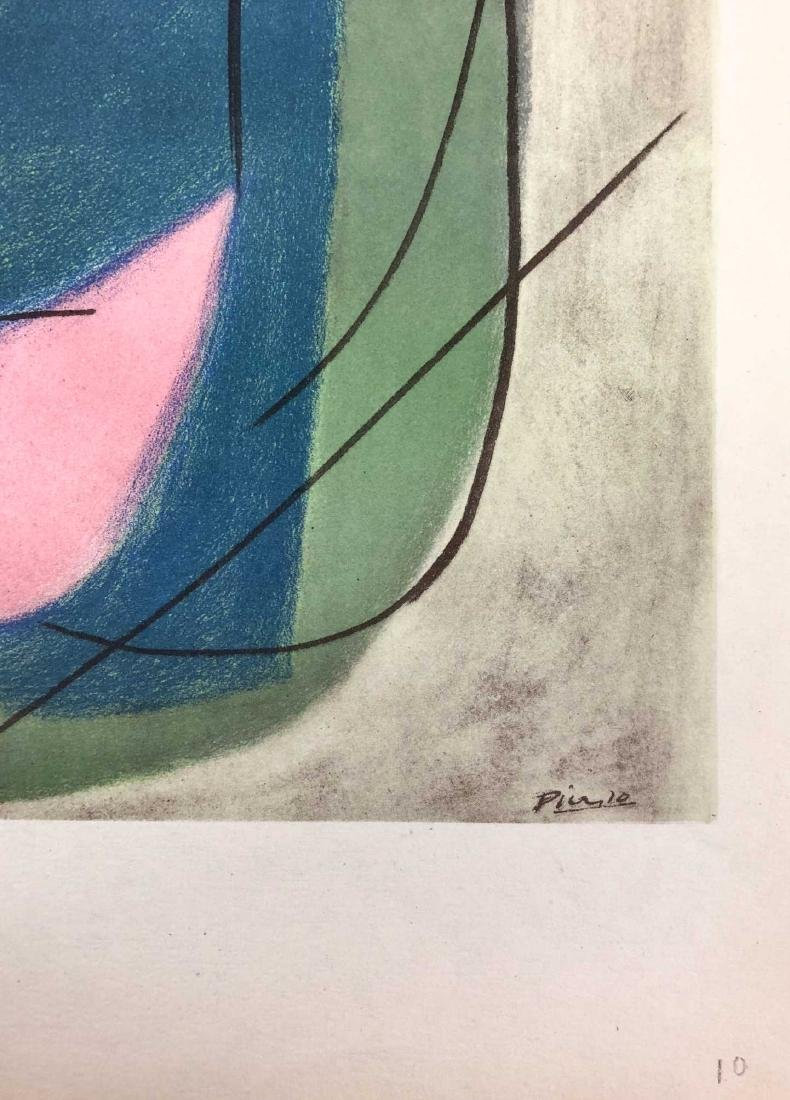 HAND COLORED Pochoir Lithograph Signed ''Picasso'' 1946 - 2
