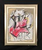 Willem de Kooning (Dutch, 1904 –1997) -- Hand Painted