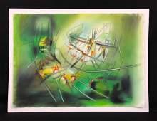 Roberto Matta Peruvian 19112002  Hand Painting on