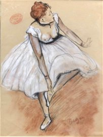 Edgar Degas (French, 1834 -1917) -- Hand Drawn Pastel
