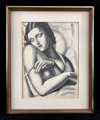Tamara de Lempicka (Polish, 1898 -1980) - Hand Drawn
