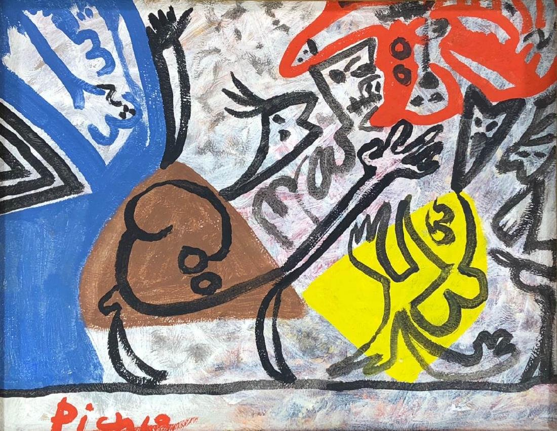 Pablo Picasso (Spanish, 1881-1973) - Hand Painted and - 2