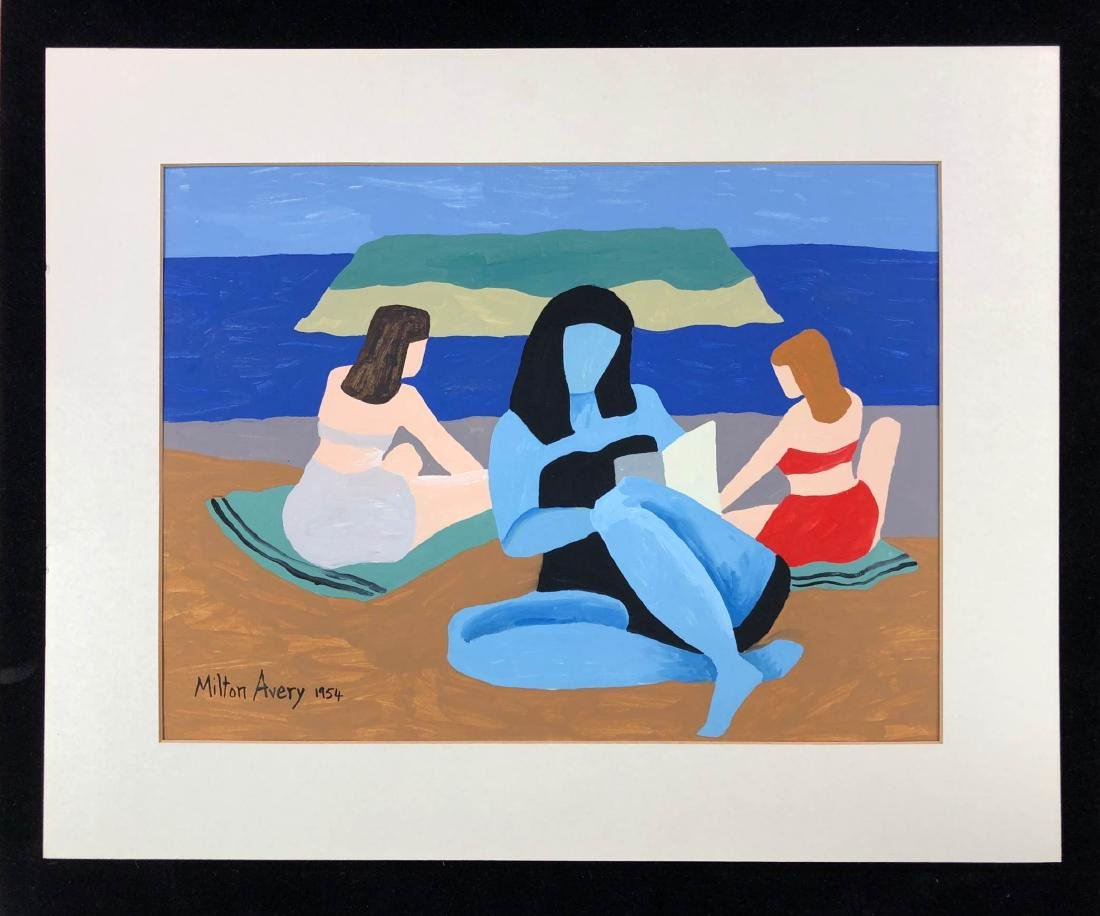 Milton Avery (American, 1885-1965) -- Hand-Painted Oil