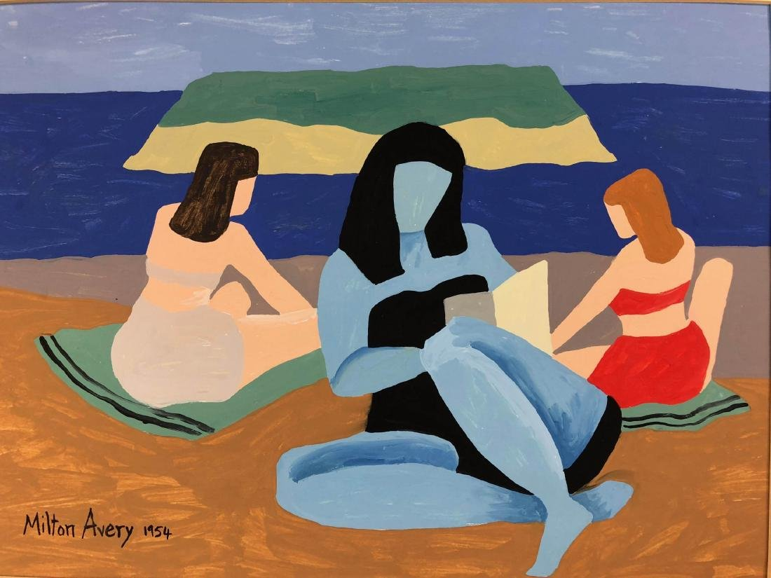 Milton Avery (American, 1885-1965) -- Hand-Painted Oil - 2