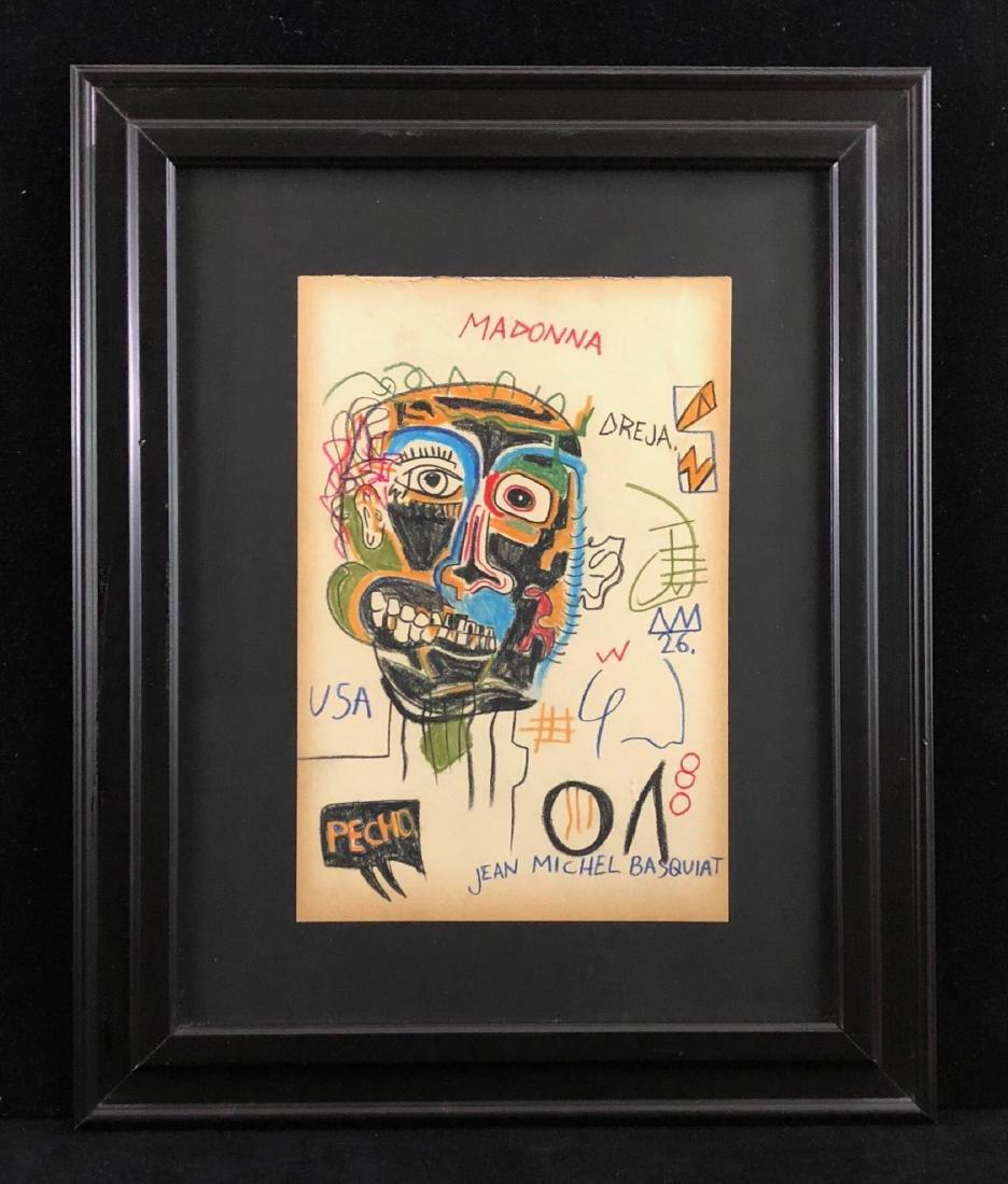Jean Michel Basquait (American, 1960-1988) Hand Drawn