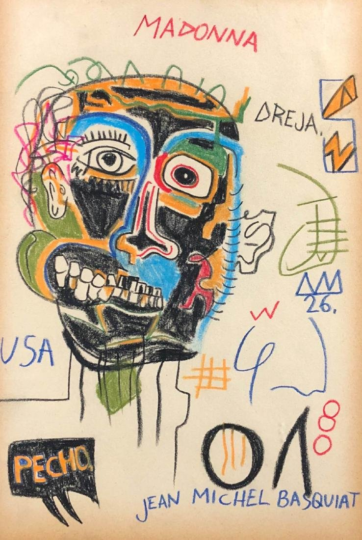 Jean Michel Basquait (American, 1960-1988) Hand Drawn - 2