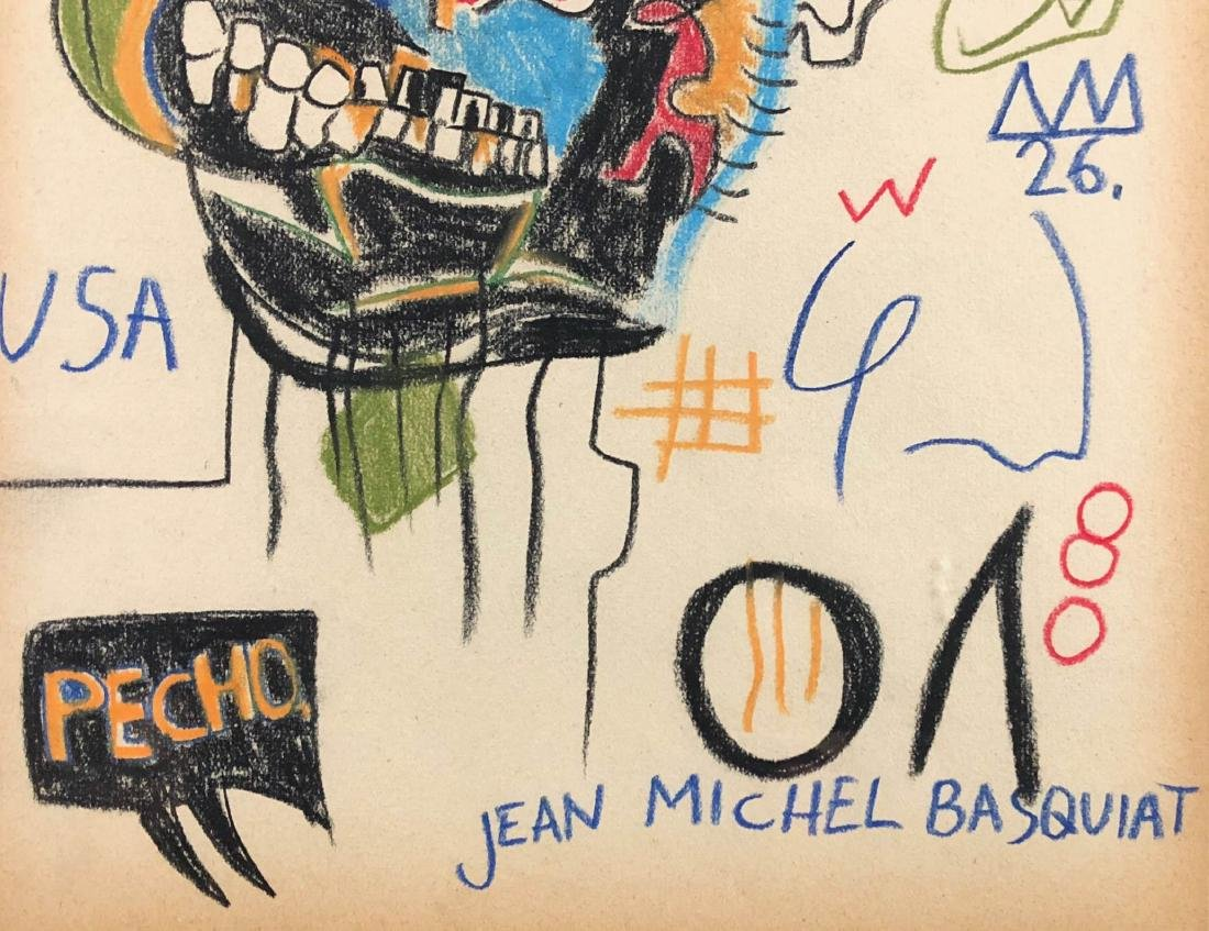 Jean Michel Basquait (American, 1960-1988) Hand Drawn - 3