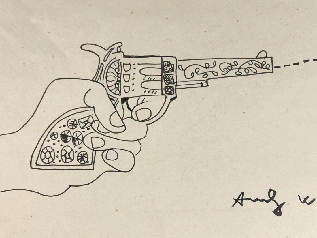 Andy Warhol (American, 1928-1987) -- Hand Drawn / Hand - 2