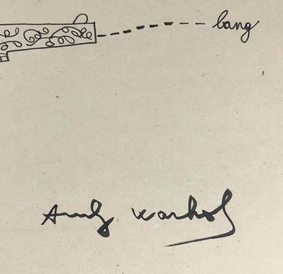 Andy Warhol (American, 1928-1987) -- Hand Drawn / Hand - 3