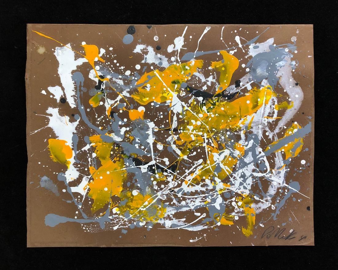 Jackson Pollock (American, 1912-1956) -- Hand Signed