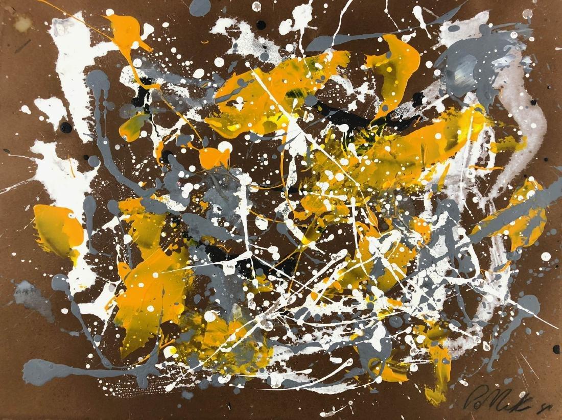 Jackson Pollock (American, 1912-1956) -- Hand Signed - 2