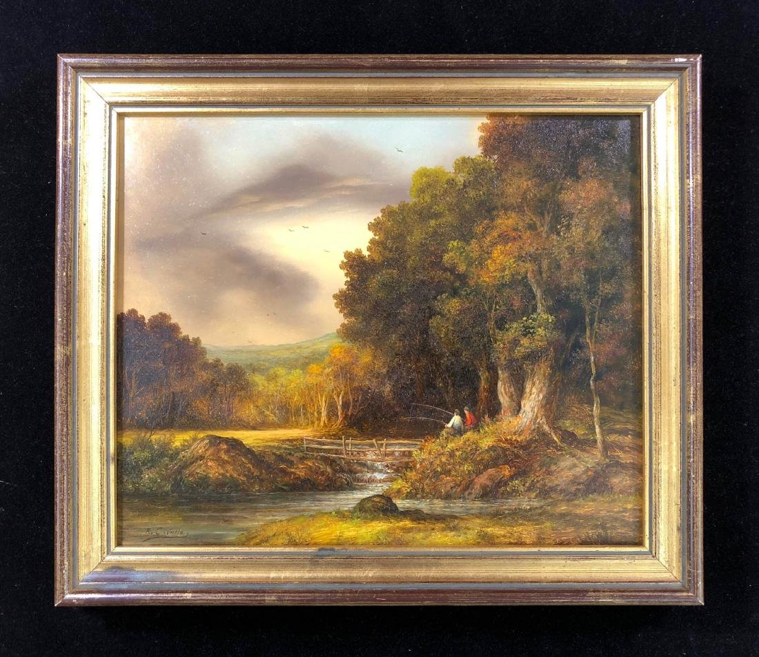 Ronald Cavalla (British - b.1940)  Hand Painted Oil on - 2