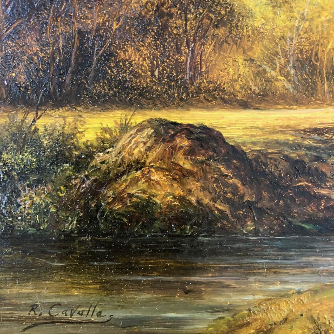 Ronald Cavalla (British - b.1940)  Hand Painted Oil on - 5