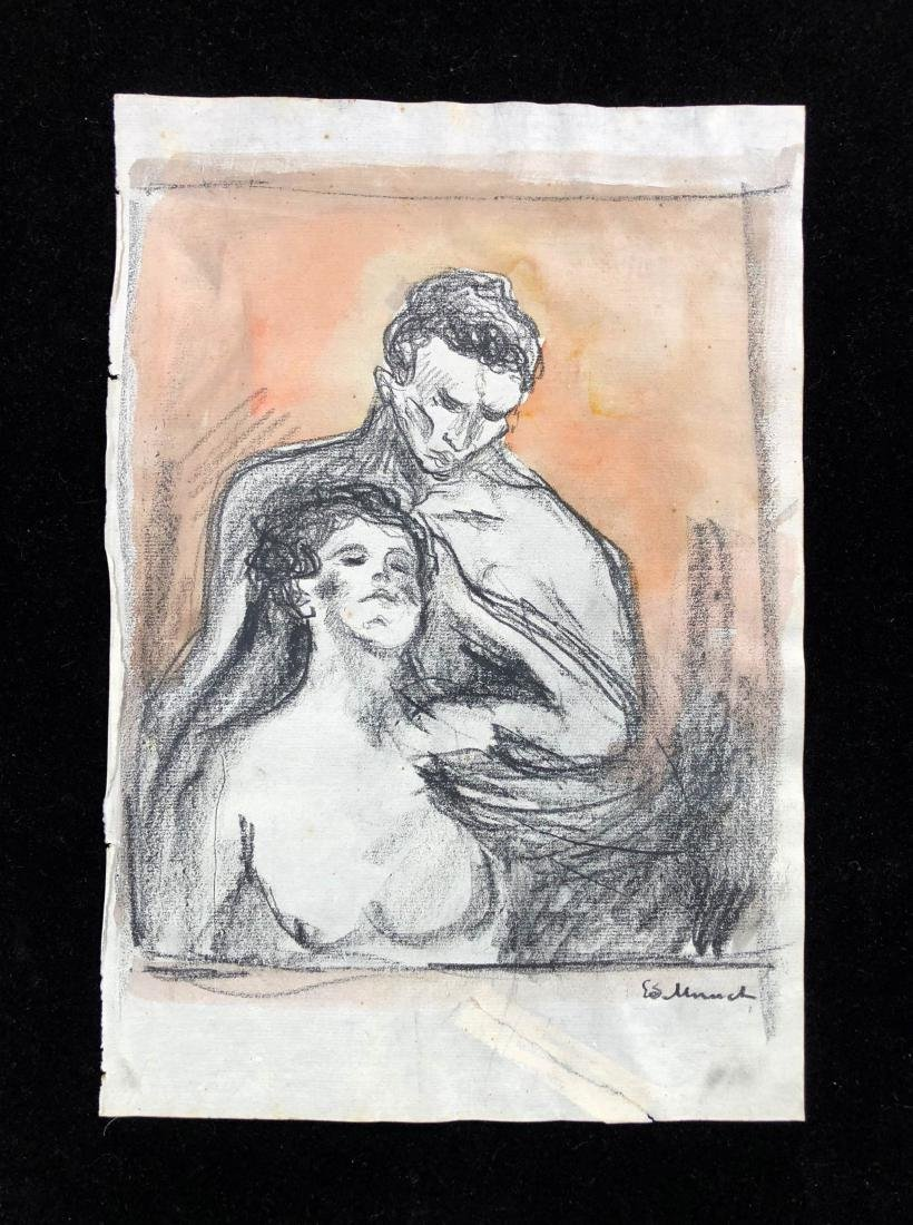 Edvard Munch (Norwegian, 1863-1944) -- Hand Drawn and