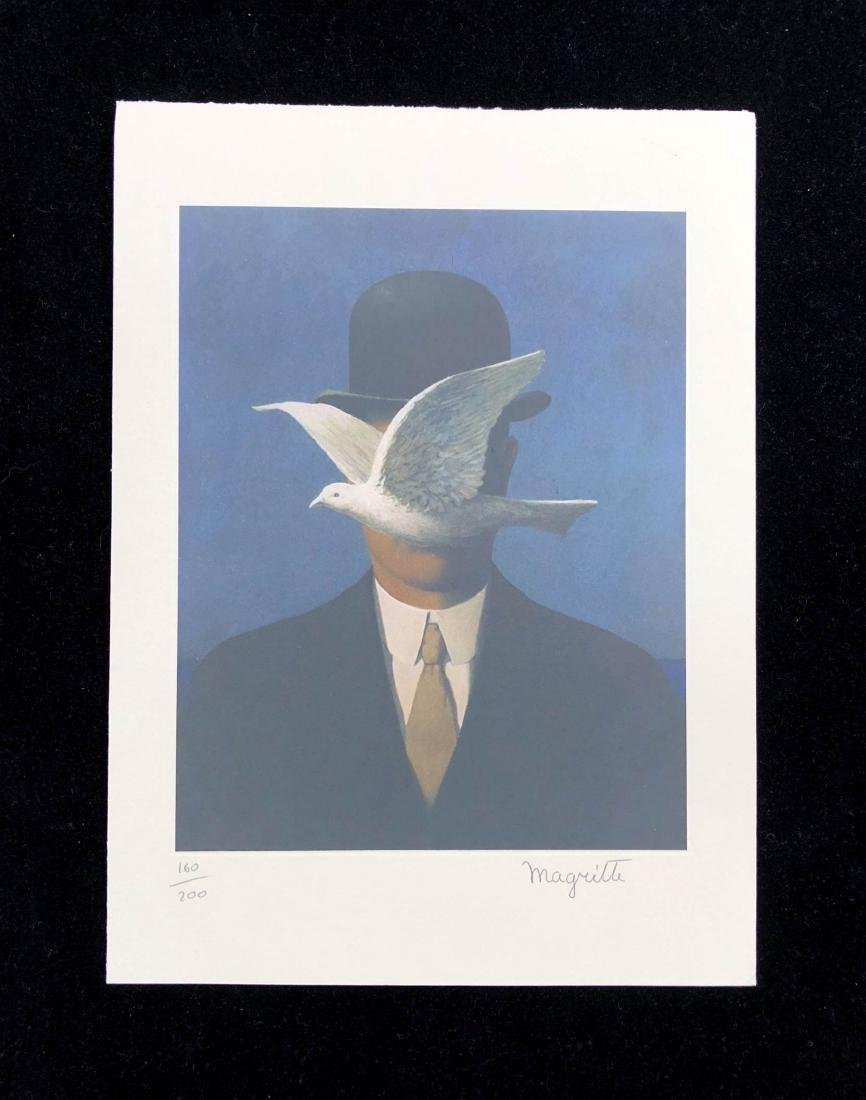 Rene Magritte (Belgian, 1898-1967) -- Hand Signed and