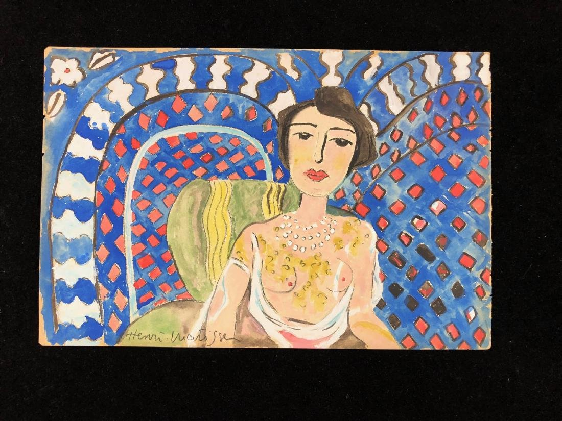 Henri Matisse (French, 1869-1954) -- Hand-Signed