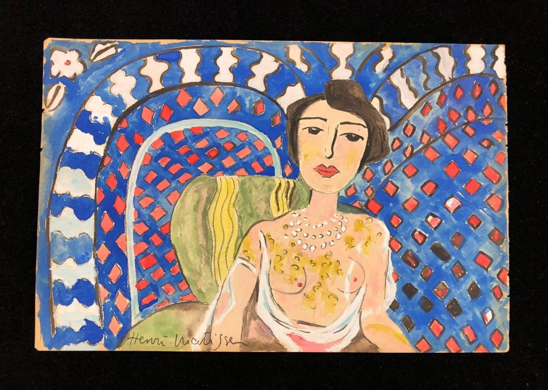 Henri Matisse (French, 1869-1954) -- Hand-Signed - 2