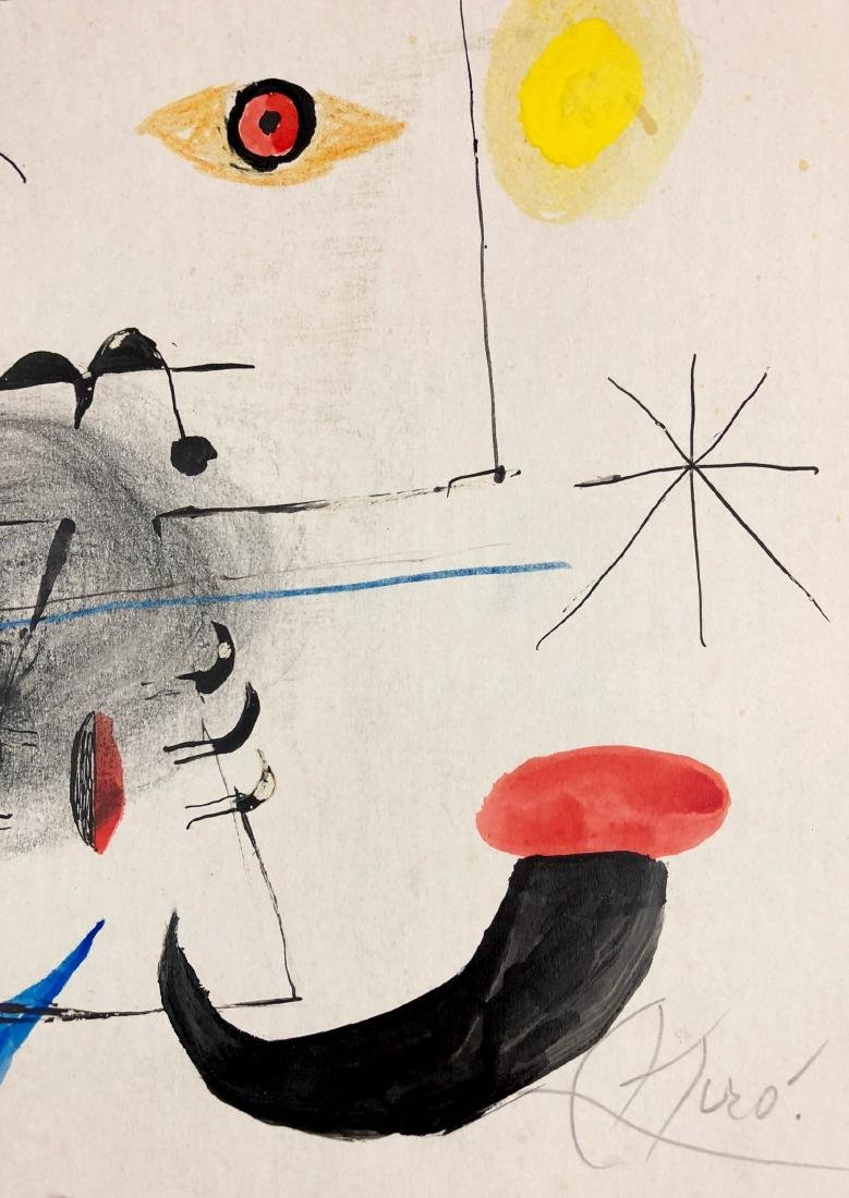 Joan Miro (Spanish, 1893-1973) -- Hand-Painted Mixed - 2