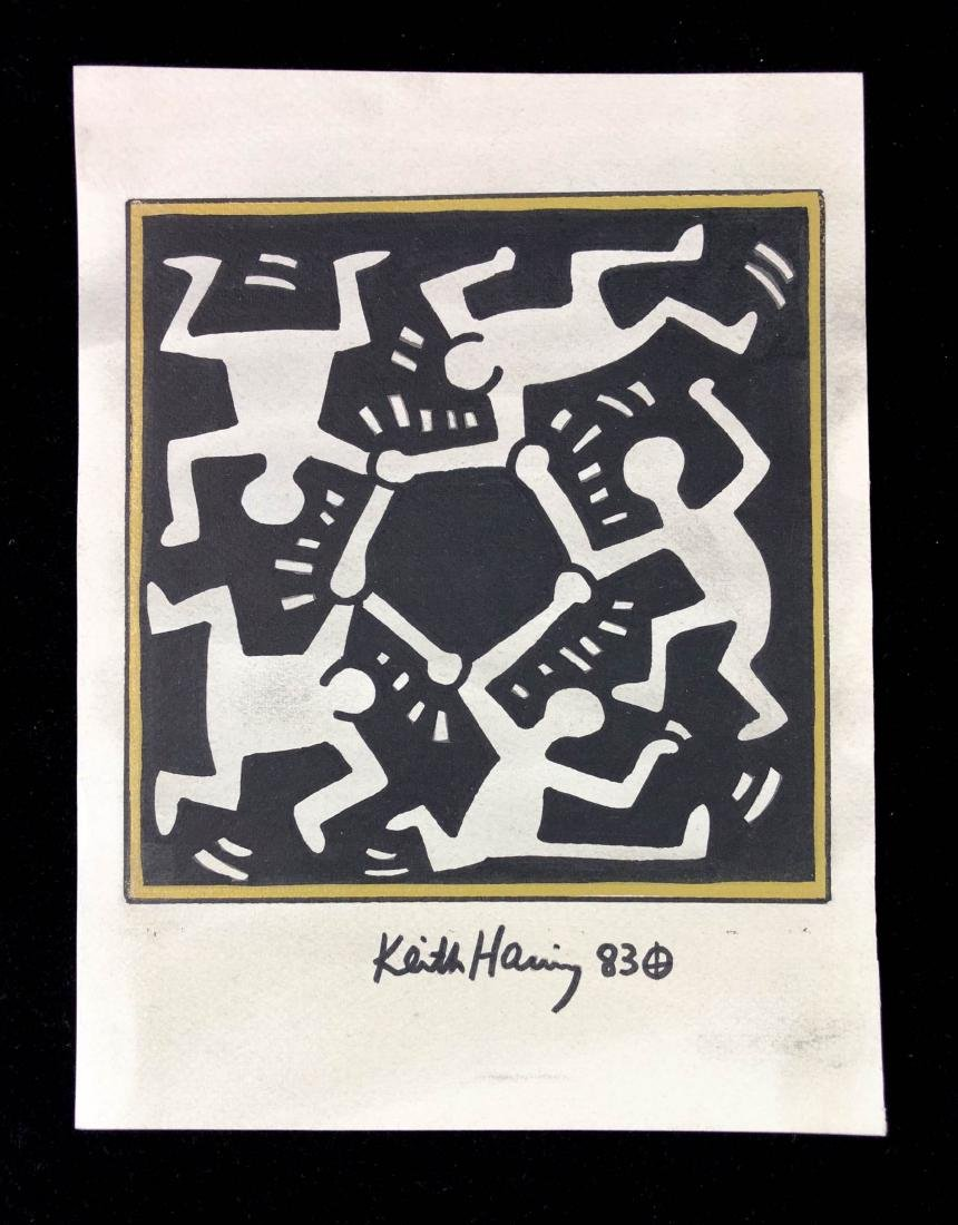 Keith Haring (American, 1958-1990) -- Hand Drawn and