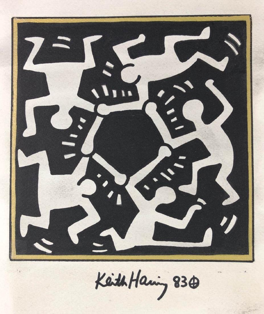 Keith Haring (American, 1958-1990) -- Hand Drawn and - 2