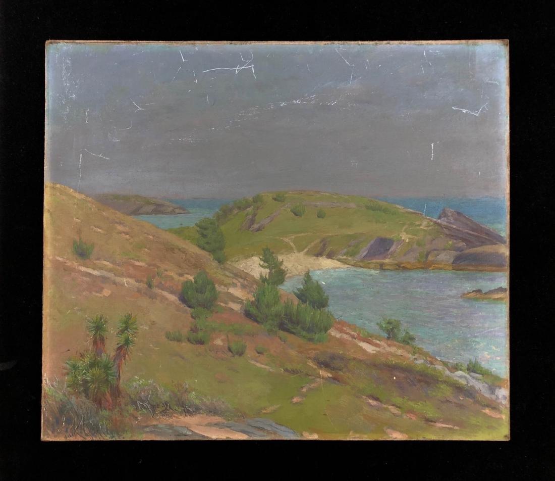 Coastal Landscape Painting --  New England -- Unsigned