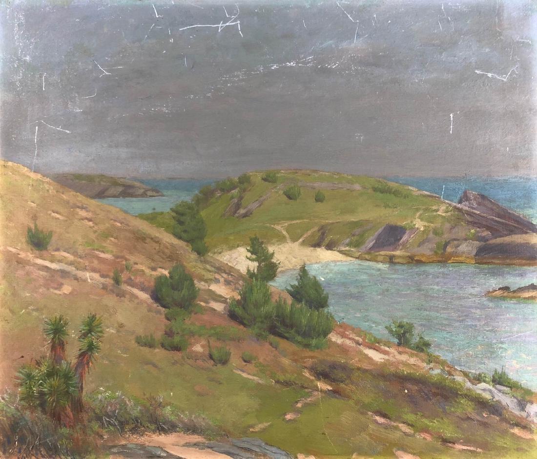 Coastal Landscape Painting --  New England -- Unsigned - 2