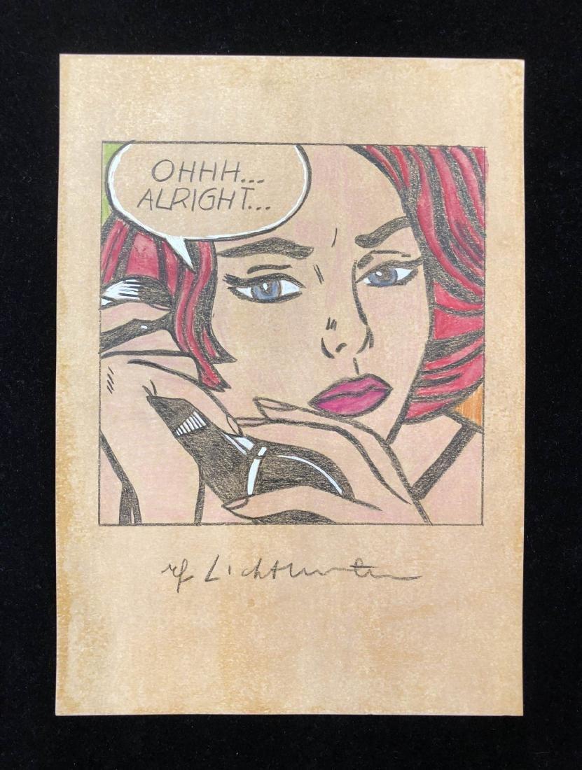 Roy Lichtenstein (American, 1923 -1997) -- Hand Drawn