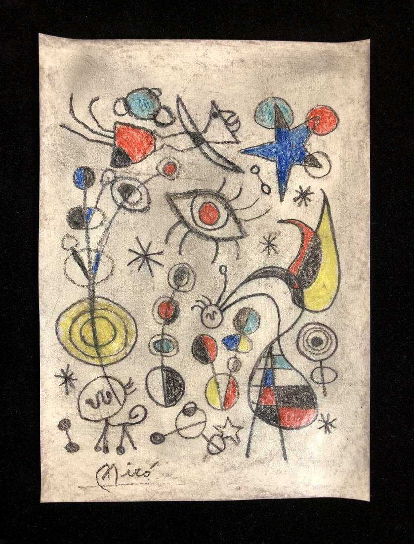Joan Miro (Spanish, 1893 -1983) - Hand Painted and