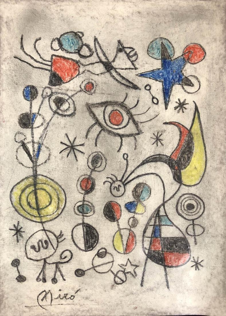 Joan Miro (Spanish, 1893 -1983) - Hand Painted and - 2