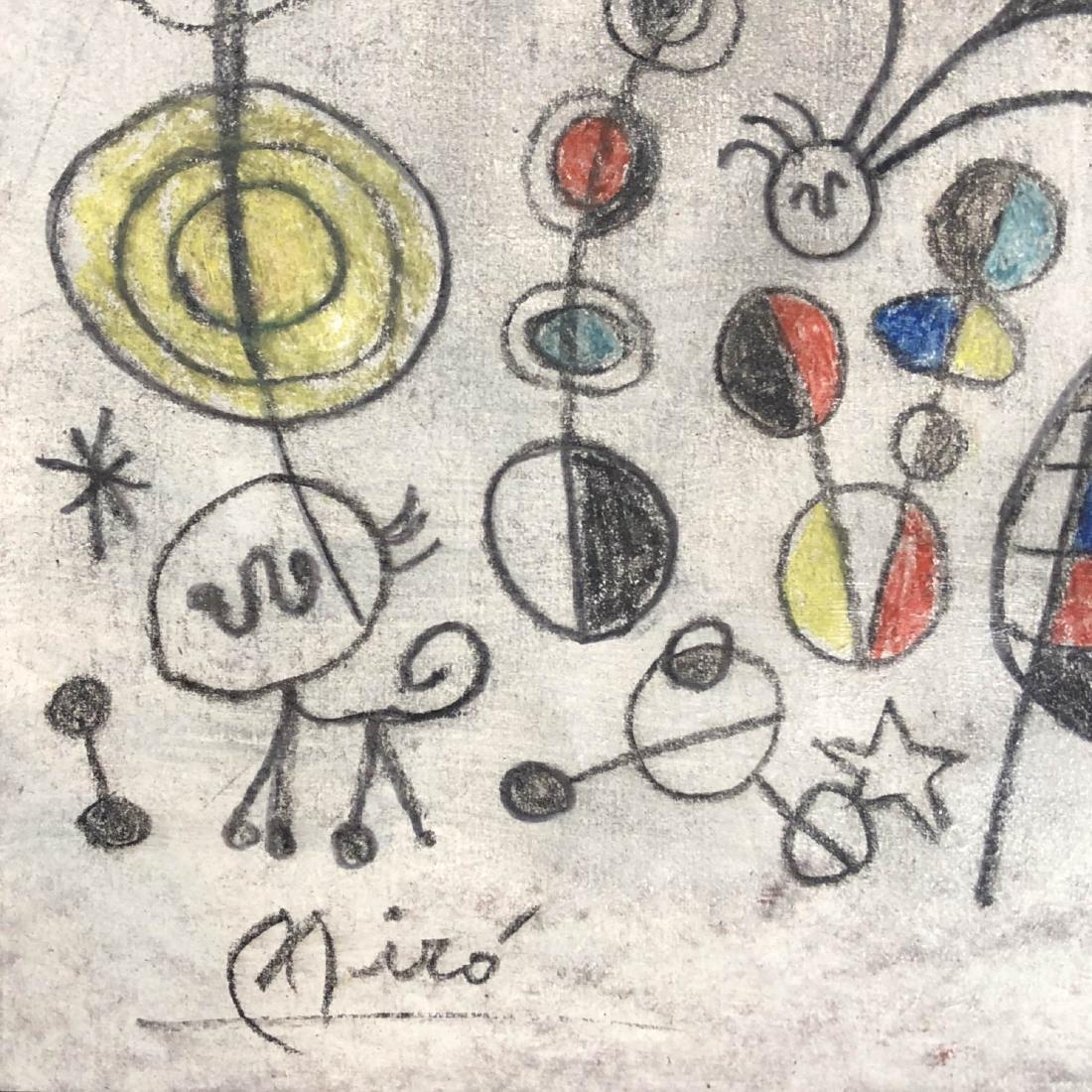 Joan Miro (Spanish, 1893 -1983) - Hand Painted and - 4