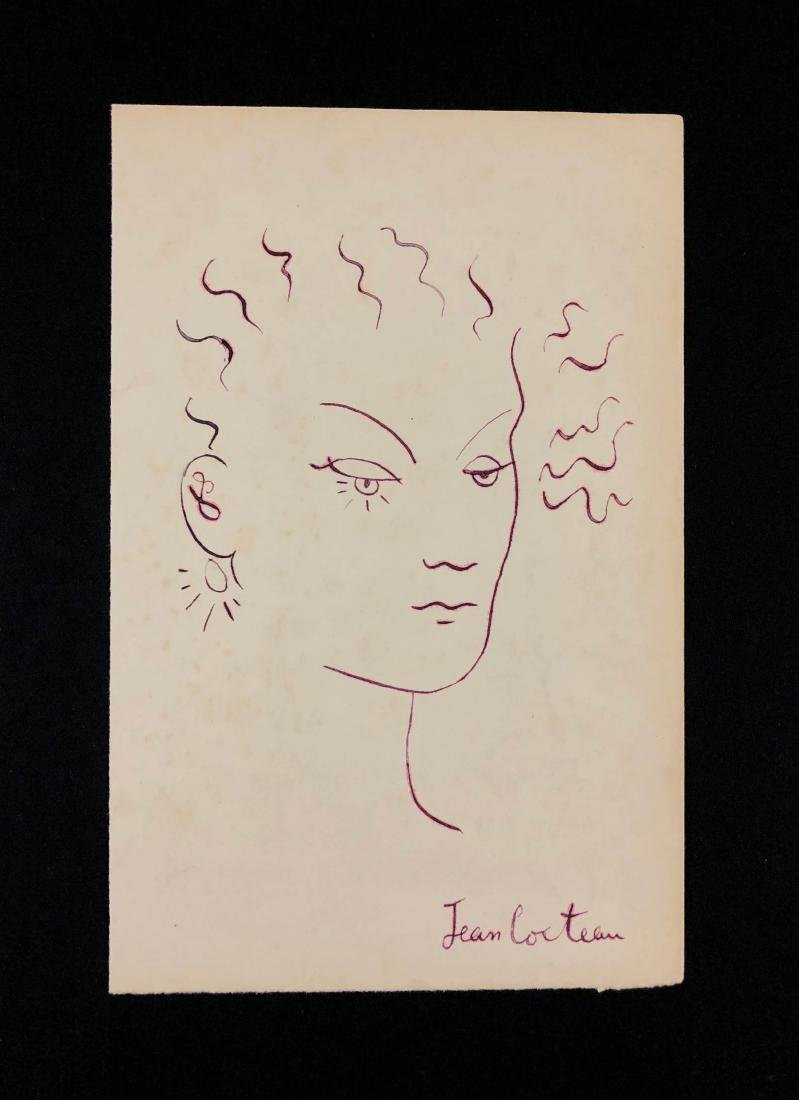 Jean Cocteau (French, 1889-1963) -- Hand Drawn Ink