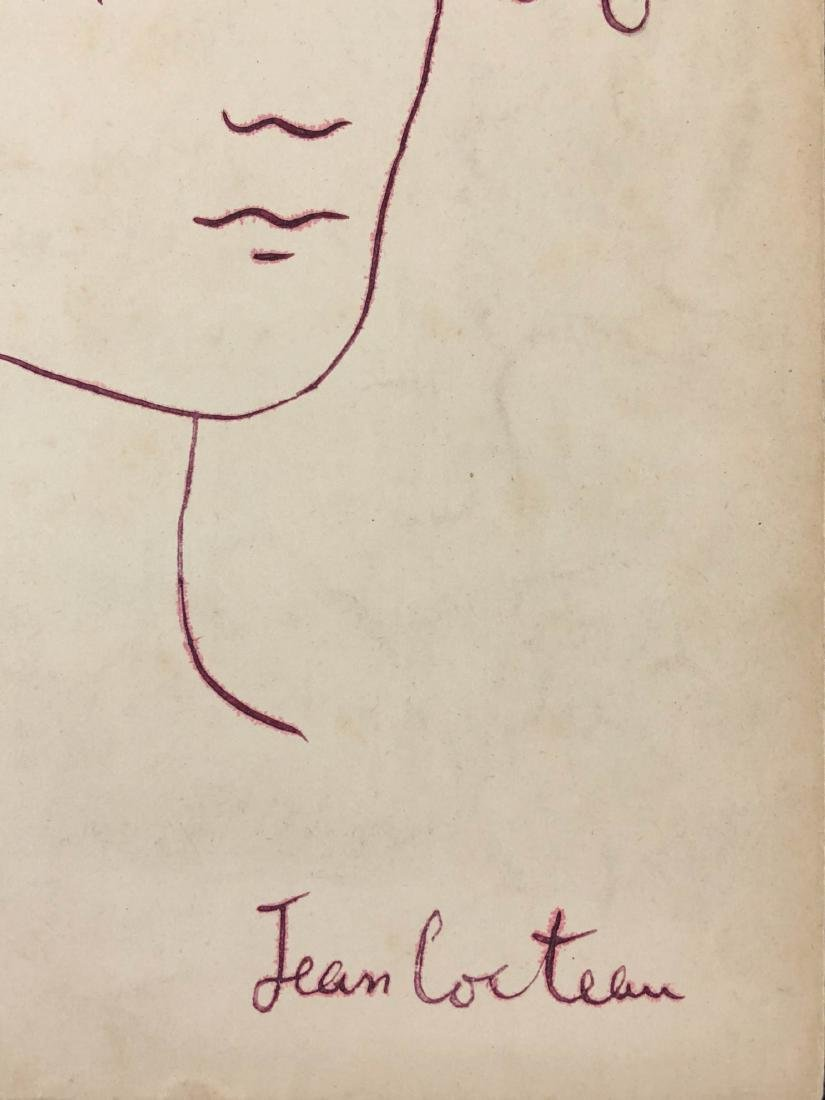 Jean Cocteau (French, 1889-1963) -- Hand Drawn Ink - 2