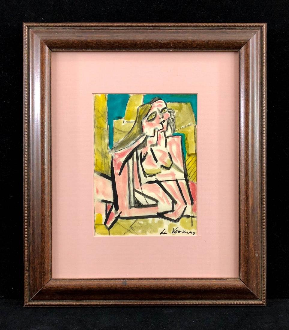 Willem de Kooning (Dutch, 1904 - 1997) -- Hand Painted