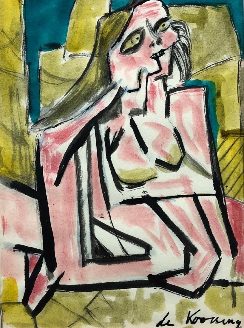 Willem de Kooning (Dutch, 1904 - 1997) -- Hand Painted - 2