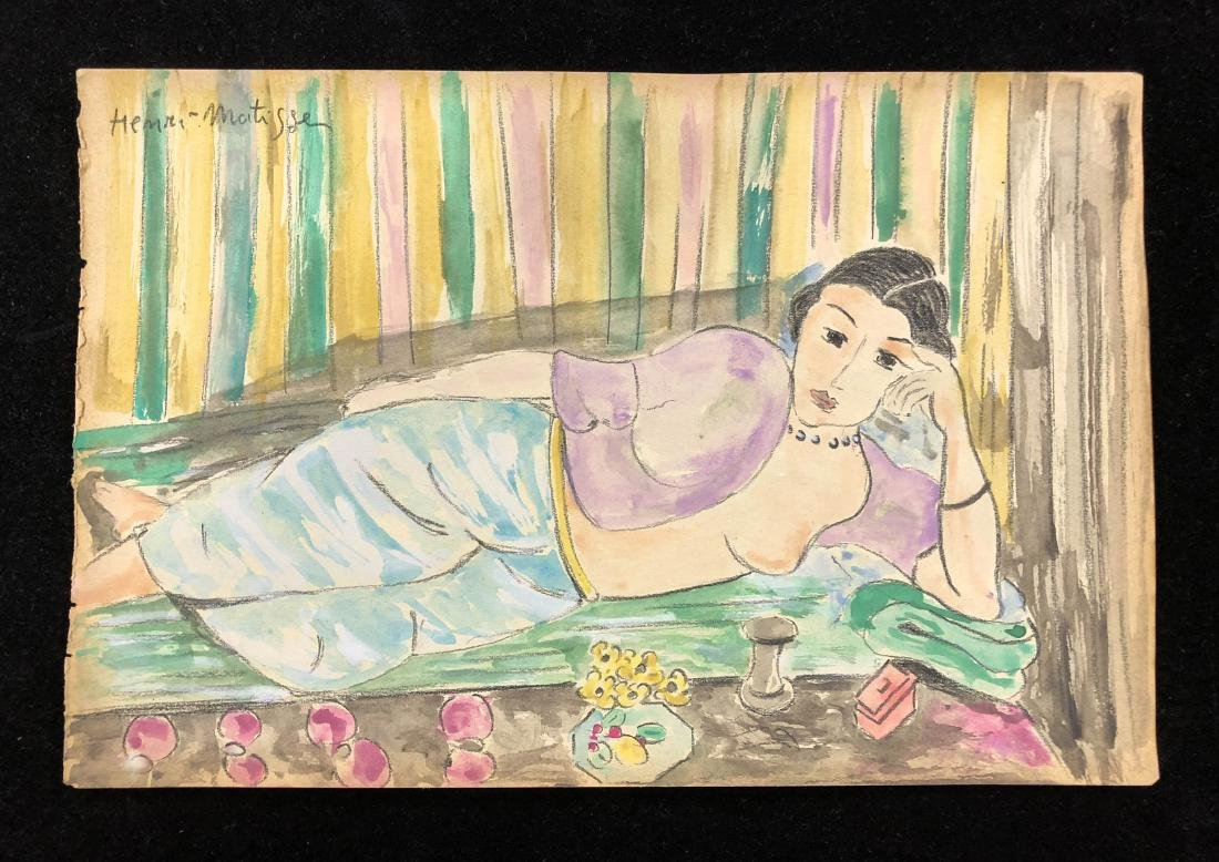 Henri Matisse (French, 1869 -1954) -- Hand Painted and