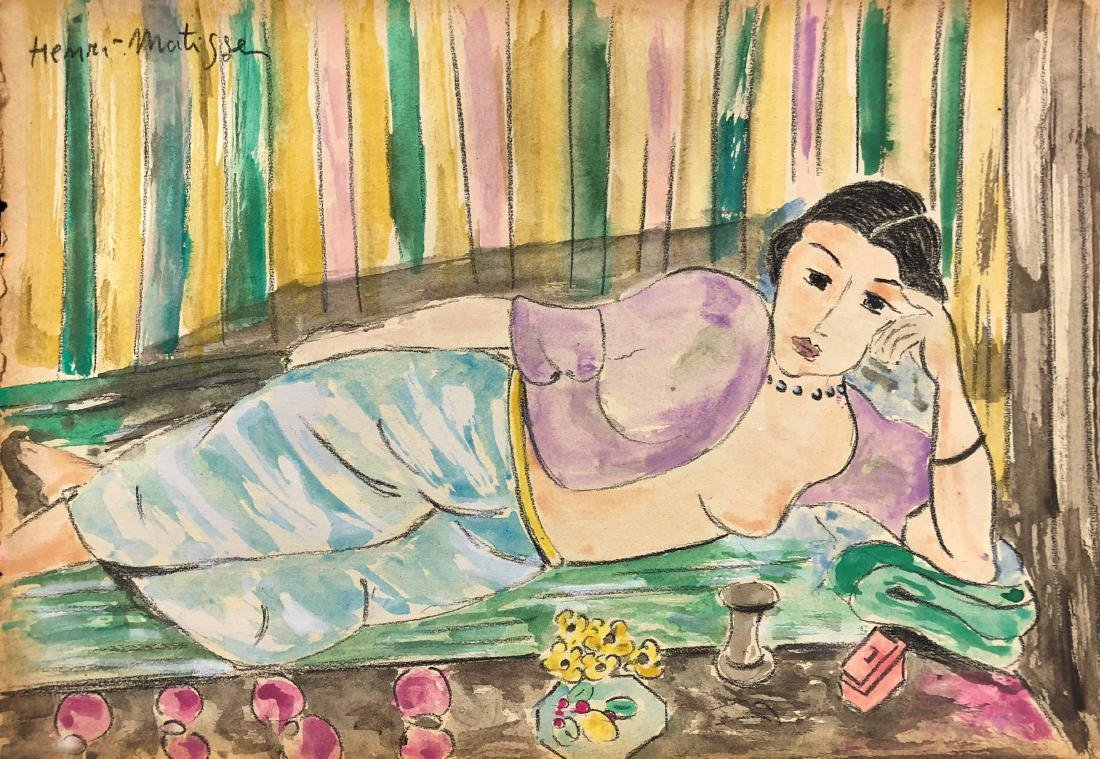 Henri Matisse (French, 1869 -1954) -- Hand Painted and - 2