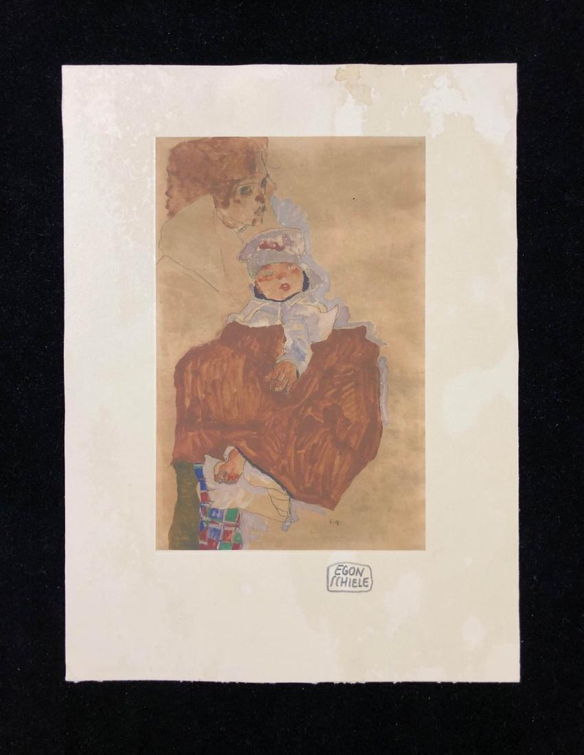 Egon Schiele (Austrian, 1890-1918) -- Hand Signed Fine