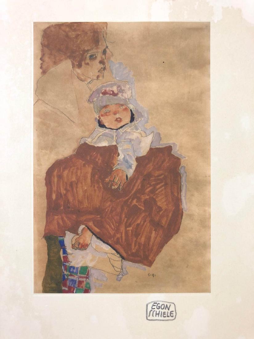 Egon Schiele (Austrian, 1890-1918) -- Hand Signed Fine - 2